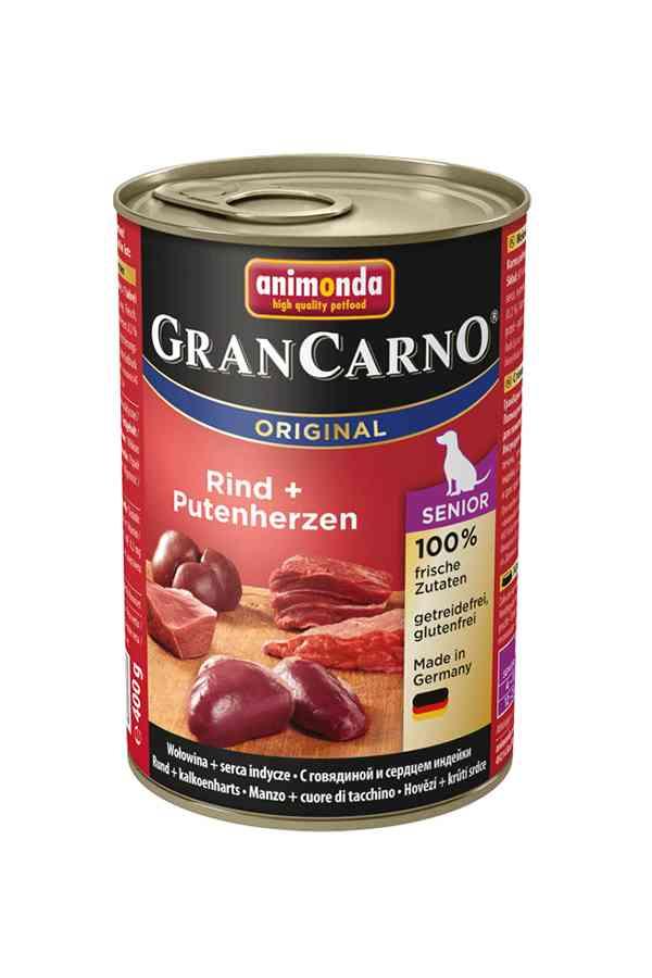 Animonda grancarno senior wołowina z sercami indyczymi 400 g