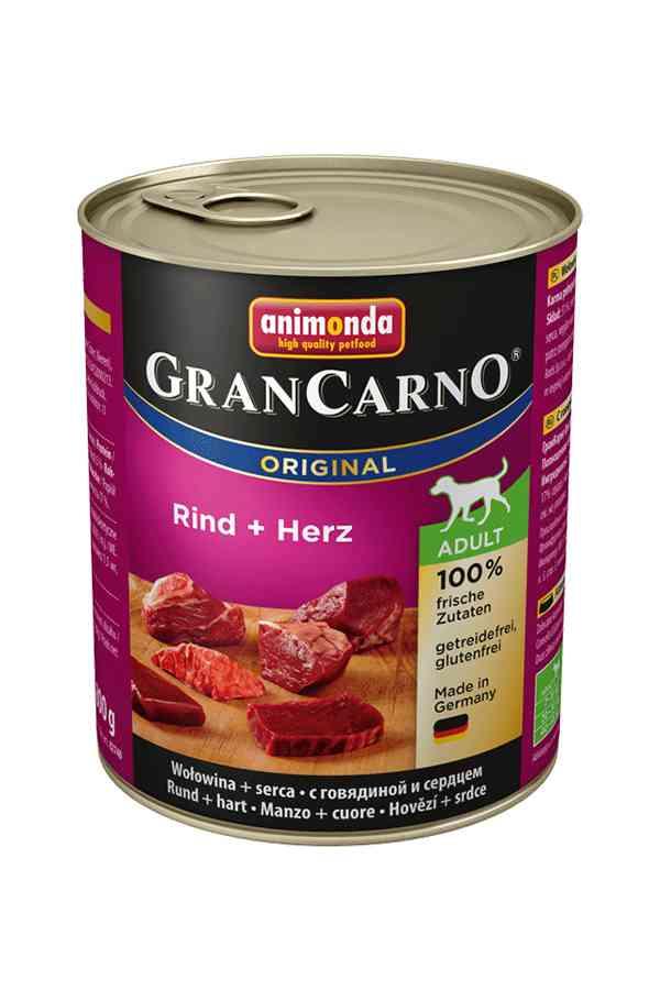Animonda grancarno wołowina z sercami 800 g