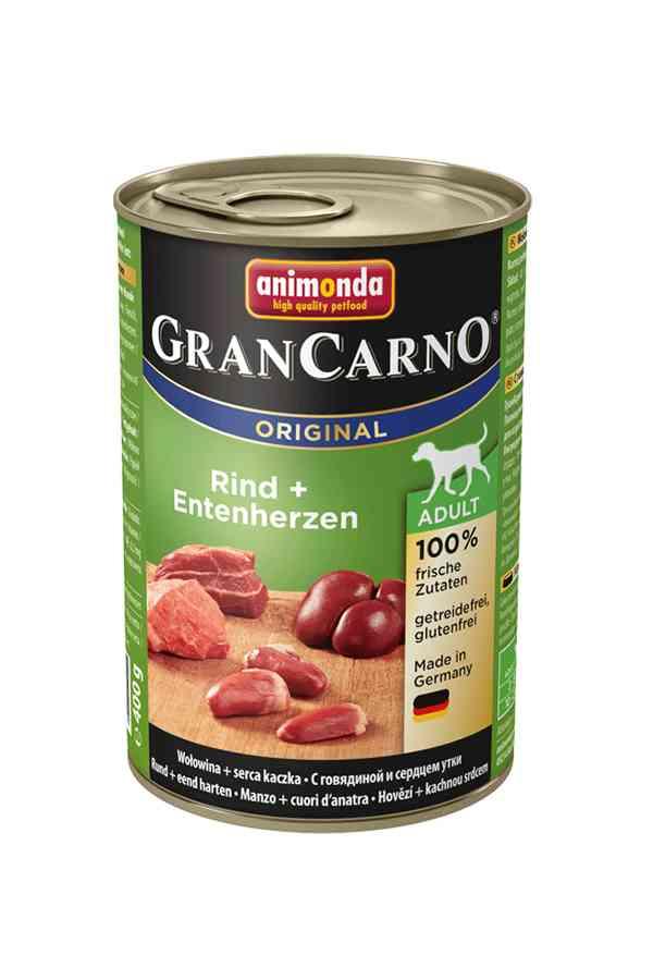 Animonda grancarno wołowina z kaczymi sercami 400 g